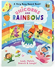 Unicorns and Rainbows: A Very Busy Board Book to Look, Match Search & Laugh!