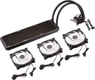 Silverstone SST-PF360-ARGB - PermaFrost Enfriador de Agua Premium, Trio Ajustable 120 mm PWM, ARGB, Intel/AMD