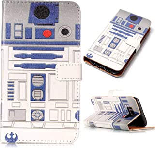 Sunshine - Tech Galaxy S8 Case,S8 Wallet Case - R2D2 Astromech Droid Robot Pattern PU Leather Wallet Case Stand Cover with Cash Card Slots for Samsung Galaxy S8 Smart Phone