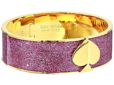 Kate Spade New York Heritage Spade Glitter Spade Button Bangle (Pink) Bracelet
