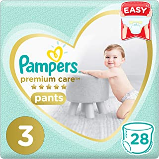 Pampers Premium Care Pants Diapers, Size 3, Midi, 6-11 kg, 28 Count