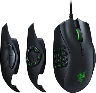 Razer 雷蛇 Naga Trinity 游戏鼠标: 16,000 DPI 光学传感器 - Chroma RGB照明 - 可互换的侧板,带有2个,7个,12个按钮配置 - 机械开关