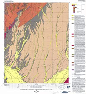 Historic Pictoric Map : Geologic map of The Enoch NE Quadrangle, Iron County, Utah, 1975 Cartography Wall Art : 22in x 24in