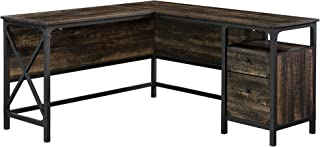 Sauder 423976 Steel River L-Desk, Carbon Oak Finish