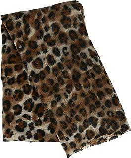 CTM Women's Leopard Print Winter Scarf