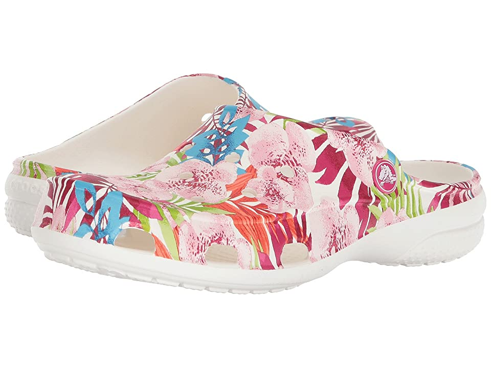 Crocs Freesail Graphic Clog (Tropical Floral/White) Women