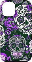 iPhone 12/12 Pro Day of Dead Purple Sugar Skulls Phone Case