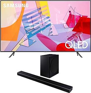 "Samsung QN85Q60TA 85"" QLED Ultra High Definition Smart UHD 4K TV with a Samsung HW-Q60T Wireless 5.1 Channel Soundbar and ..."