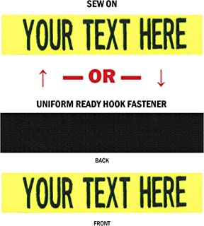 Northern Safari Custom Uniform Name Tapes, 50 Fabrics Made in The United States. Same Day Ship.