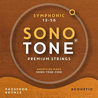 SonoTone Symphonic, 13-56, Medium, Acoustic Guitar Strings, Ultra Phosphor Bronze Wrap, Hand-Wound, Precision Hex Core, Bright, Balanced, Sustain, American Made