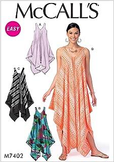 McCall's Patterns M7402 Misses' Handkerchief-Hem, Tent Dresses and Jumpsuit Y(4-6-8-10-12-14)