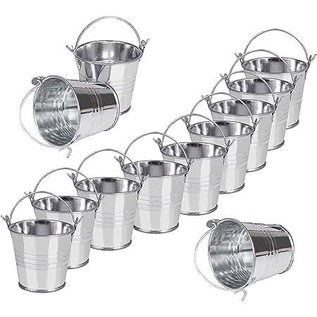 Petit Métal seaux Lot de 12 Mini Seaux avec Poignées pour Petite Plantes de Jardinage Home Party Decoration 7,5 x 8 x 5,5cm