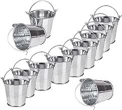 CODIRATO 12 St/ück Mini Eimer Kleine Metalleimer mit Tragegriff Silber Geschenk Eimer f/ür Hochzeit Party Taufe Mandeln S/ü/ßigkeiten Schokolade Tischdeko Bonboniere