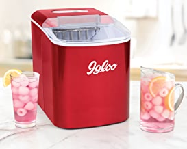 Igloo ICEB26RR 26-Pound Portable Automatic Ice Cube Maker, Metallic Red