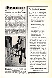 Print Ad 1931 Railways Of France To Boards of Directors