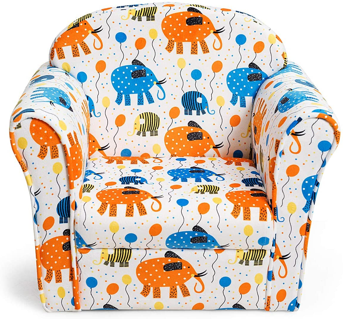 Costzon Kids Sofa Children Armrest Los Angeles Mall Pattern with Toddler Manufacturer OFFicial shop Chair