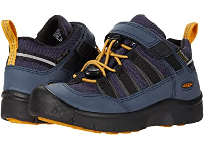 KEEN Kids Hikeport 2 Low WP (Toddler/Little Kid) (Blue Nights/Sunflower) Boy