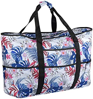 Travel Lightweight Waterproof Foldable Storage Carry Luggage Duffle Tote Bag Tropical Taking Pictures Birds Flamingo