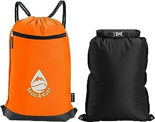 Skog Å Kust GymSak 2-in-1 Drawstring Cinch Bag with Removable Waterproof Dry Bag