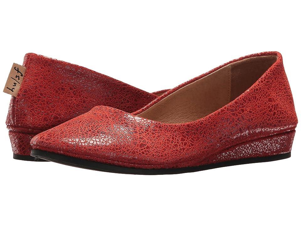 French Sole Zeppa Flat (Red Swirl Print) Women