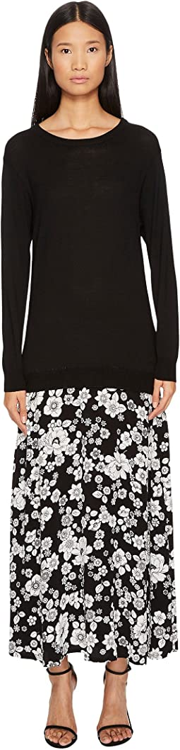 Boutique Moschino - Sweater Trompe L'Eoil Maxi