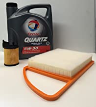 Total Pack Aceite de Motor Quartz INEO ECS 5W30 5 litros + Filtro Aire/Aceite Motores 1.6HDi de Citroen/Peugeot 2012-