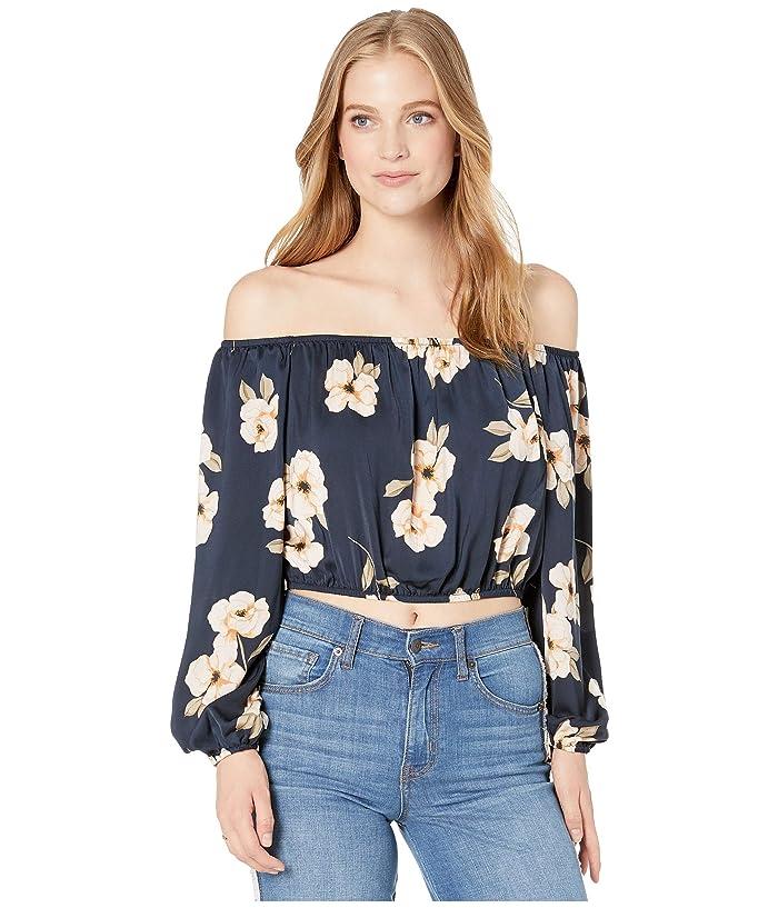 BB Dakota  Blue Gardenia Blouse (Oilslick) Womens Clothing