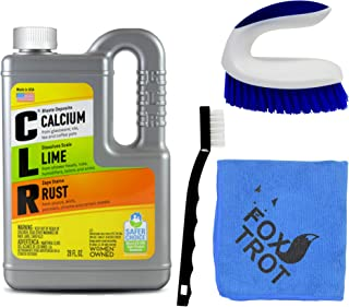 CLR Complete Cleaning Kit, Calcium Lime and Rust Removal System Includes 28oz CLR Bottle, 1 Handheld Heavy Duty Brush, 1 E...