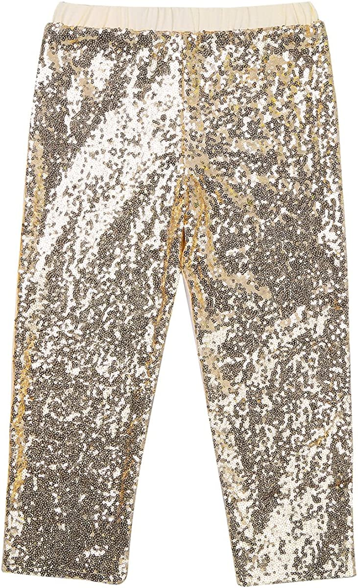 iEFiEL Infant Kids Girls Glitter Sequins Leggings Pants for Birthday Party Dance Dress up Outfits
