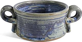 Anthony Stoneware Handled Soup Crock, French Blue