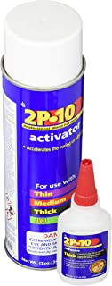 Fastcap 2P-10 Super Glue Adhesive 2.25 Ounce Thick and 12 Ounce Activator Combo Pack
