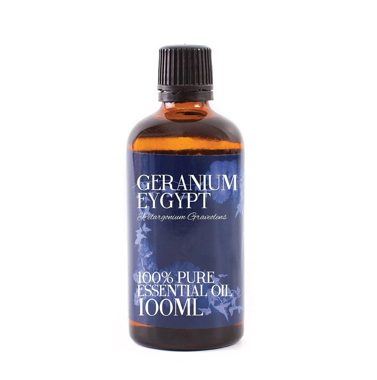 息苦しいシリーズマークダウンMystic Moments   Geranium Egypt Essential Oil - 100ml - 100% Pure