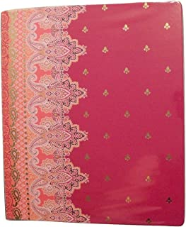 Carolina Pad Studio C The Taj Mahal Collection 1 Inch O-Ring Vinyl Binder with Pockets (Violet, Pink and More, 10 Inches x 11.5 Inches)