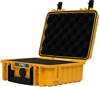 "STR8 Brand 10"" Weather Resistant, Smellproof, Lock Sate, Glass Protector, Outdoor Carrying Case for Multi-Purpose with Plu..."