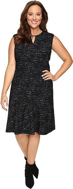 Plus Size Tweed Jacquard Dress