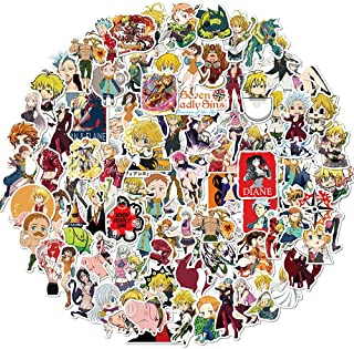 Seven Deadly Sins Anime Manga Sticker 100PCS Suitable for Luggage Computer Water Cup Waterproof