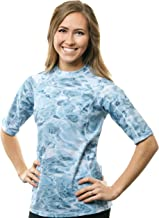 Aqua Design Rashguard Swim Shirts for Women UPF50+ Short Sleeve Rash Guard Shirt