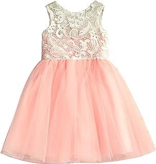 Miama フラワーガールドレス 子供ドレス お姫様ドレス 年下花嫁付添役ドレス ピンク