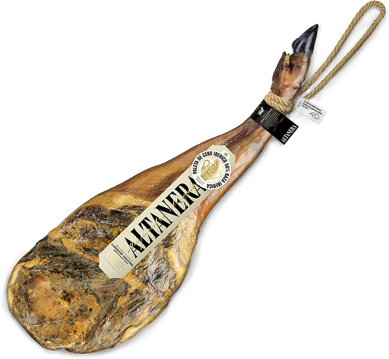 Altanera - Paleta de Cebo Ibérico   5 kg Aprox.   Paleta + Cuchillo + Jamonero   Curación > 365 días   Hecho en España