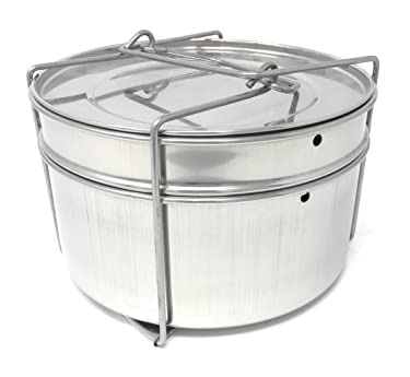 PREMIUM Cooker Separator Set Suitable for 5Litres, Inner Lid Cooker - Stainless Steel