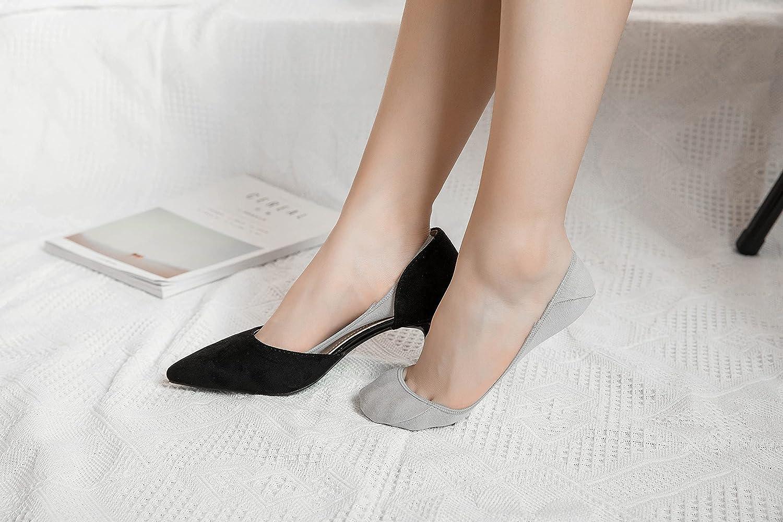Lomitract Flat Socks Pack Non Slip Bottom (Women Size 5-8) D0021