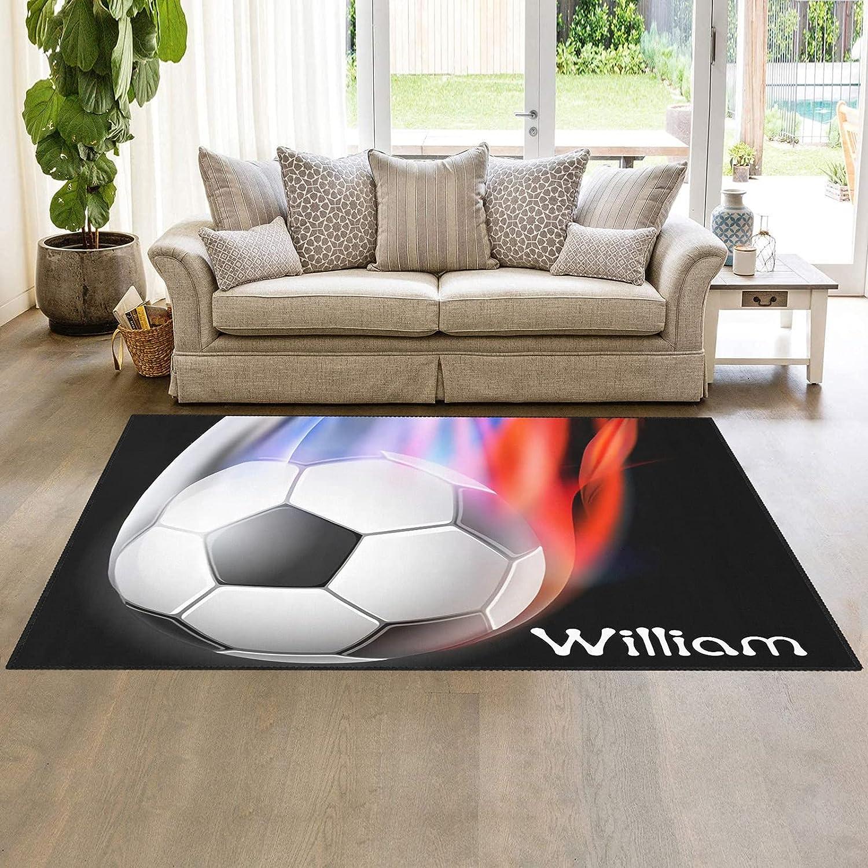 Soccer Ball Sport Area Rug Carpet Kids Rugs Doormats 人気 Pla 安い Nursery