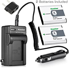 Kastar Battery 2-Pack +Charger for Sony NP-BK1, BC-CSK & Sony Bloggie MHS-CM5, MHS-PM5, Cyber-shot DSC-S750, DSC-S780, DSC-S950, DSC-S980, DSC-W180, DSC-W190, DSC-W370, Webbie MHS-PM1 Cameras