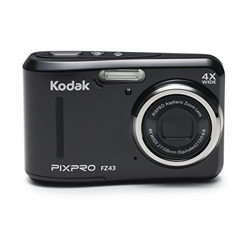 "Kodak PIXPRO Friendly Zoom FZ43-BK 16MP Digital Camera with 4X Optical Zoom and 2.7"" LCD Screen (Black)"