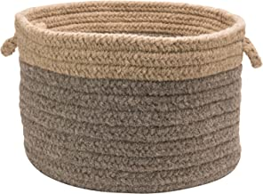 product image for Colonial Mills Chunky NAT Wool Dipped Basket, 24 by 14-Inch, Dark Gray/Beige