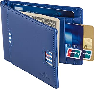 PAGE ONE Mens Wallet RFID Blocking Credit Card Holder Genuine Leather Slim Thin Bifold Business Card Case with Gift Box