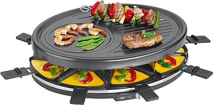 Clatronic RG 3776 Appareil à raclette 1400 W pour griller et gratiner Boîtier Cool Touch Grill pour 8 personnes avec spatu...