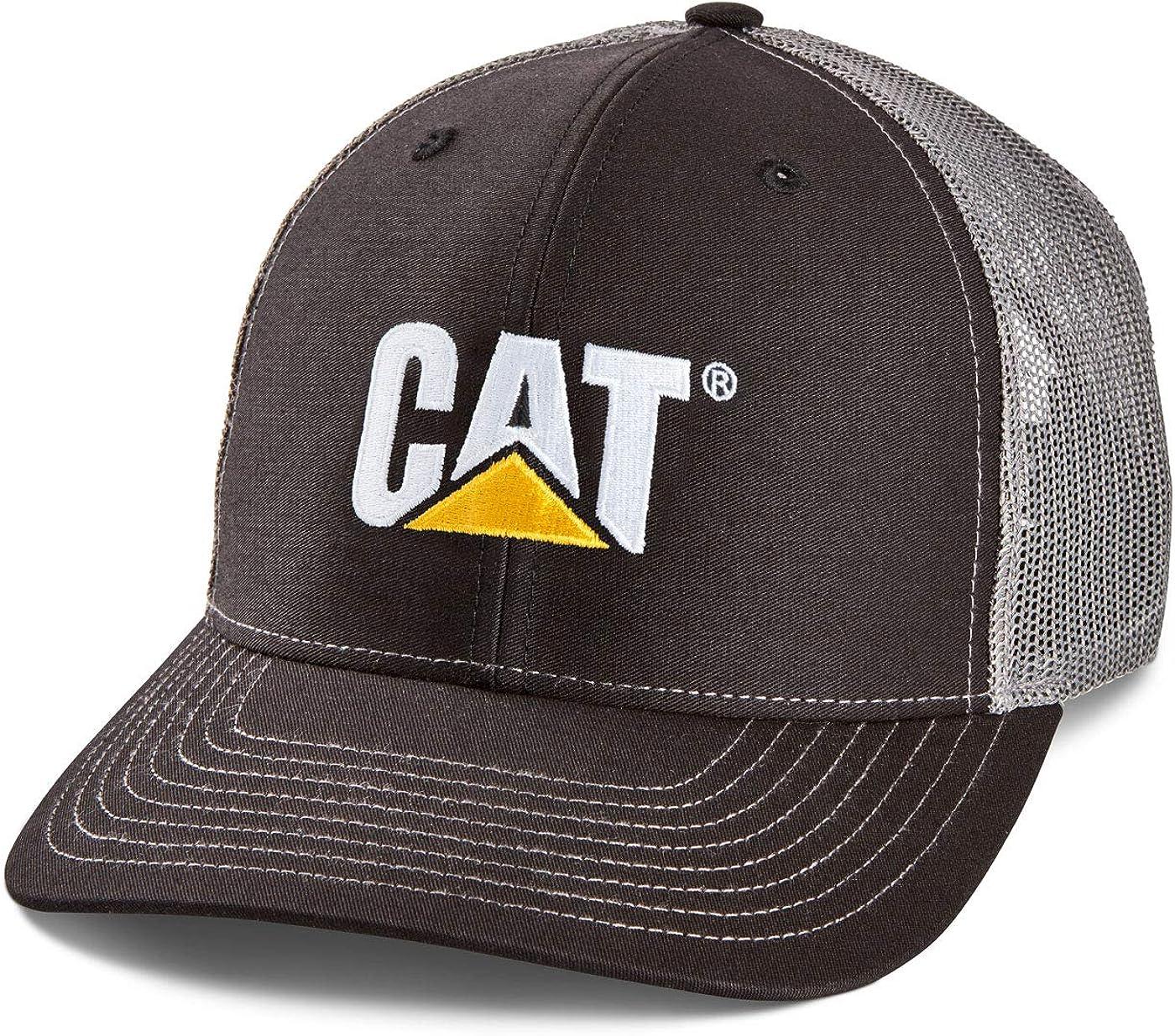 Caterpillar CAT Richardson Black/Mesh Snapback Hat Cap