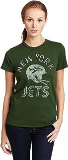 NFL New York Jets Heather Vintage Short Sleeve Crew Women's