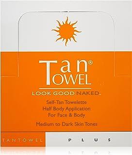 Tan Towel Half Body Plus - 50 Pack